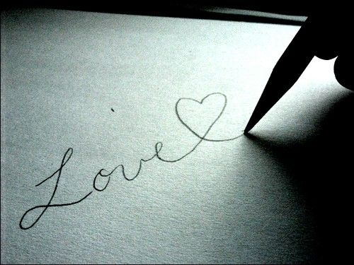 To write love