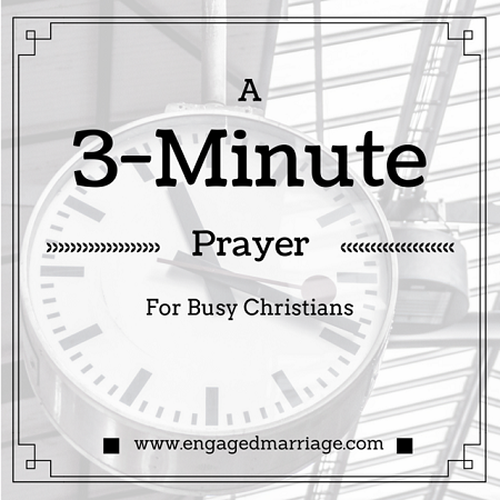 3-Minute Prayer for Busy Christians