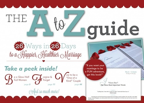 The A to Z Guide to Happy Healthy Marriage