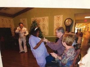 Never let a wheelchair keep you from dancing to Elvis