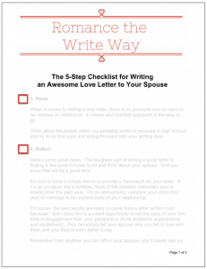 how to write the perfect checklist