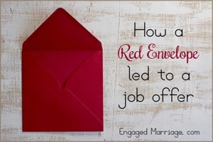 red envelope and a job offer