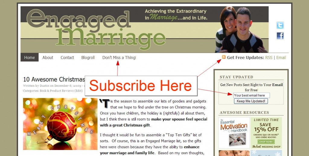 Subscribe to Engaged Marriage