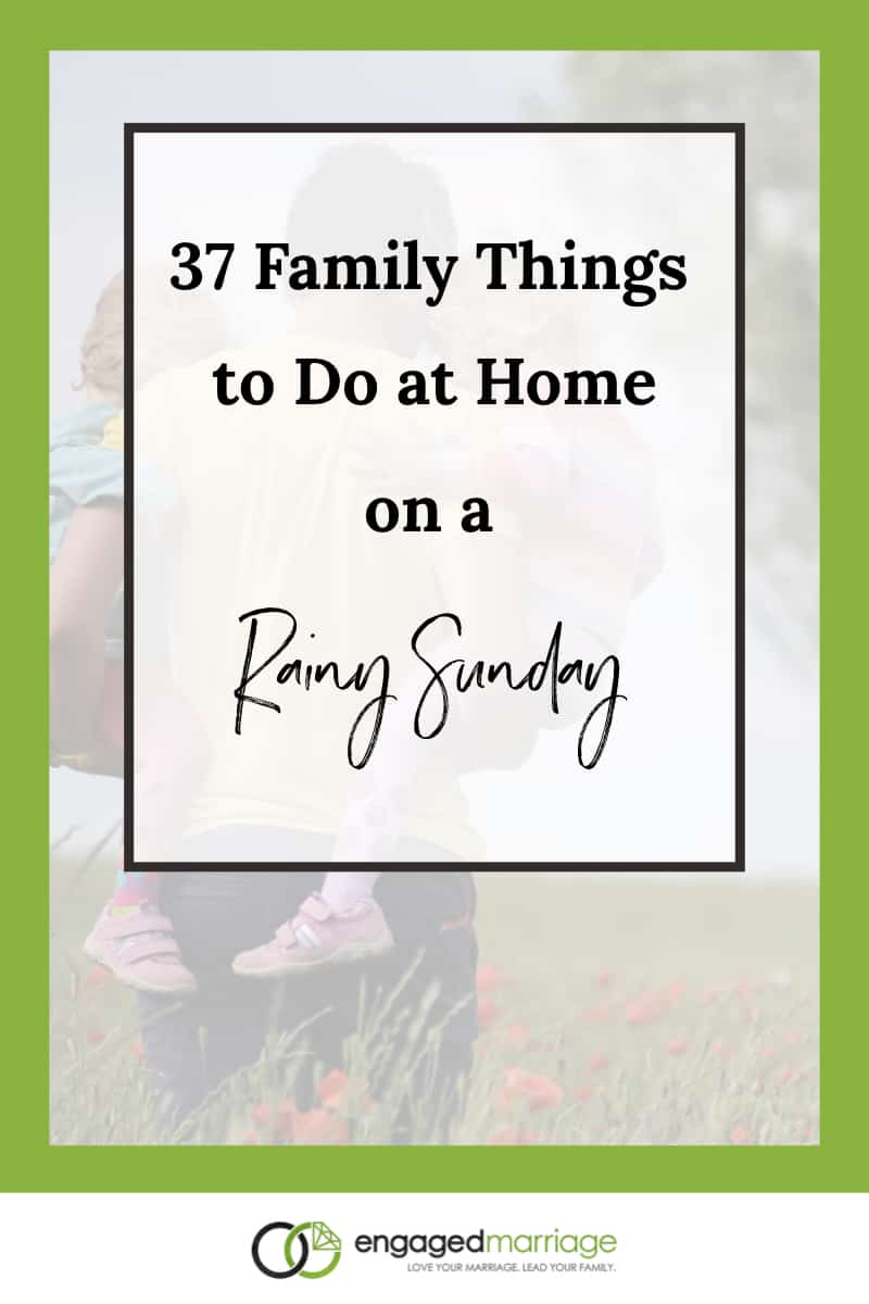You will find below 37 things that you can do as a family on the next Sunday (or any day) that you find yourself cooped up with your young children (or just with your spouse). Not only are these ideas family-friendly, but they are essentially free so you won't be putting a strain on your budget or hurting your plans to get out of debt!