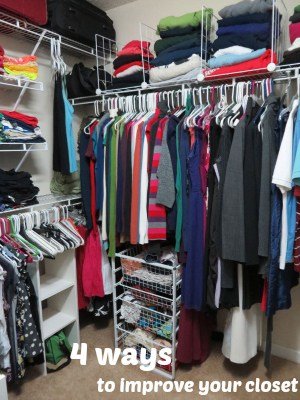4 ways to improve your master closet
