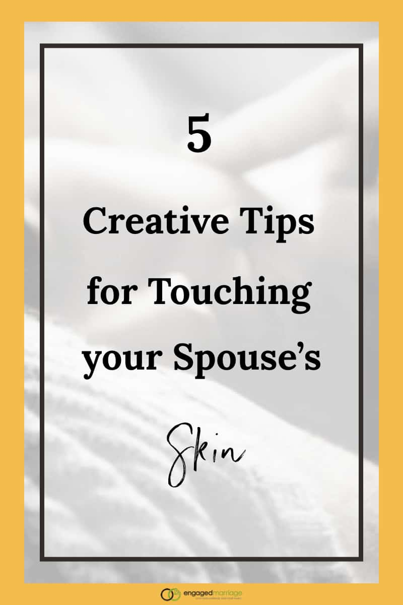 As important as touch is, couples tend to assume that if they hug, kiss, and make love, then they have experienced loving affection. But there is so much more to the magic of touch than that basic menu of options. Click through for the five creative tips for lovingly touching your partner + spouse in a fresh way. This is perfect for all married couples and those in a serious relationship. Practice your romantic intimacy right now.
