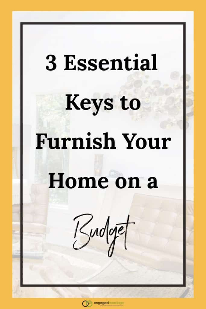 3 essential keys to furnish your home on a budget