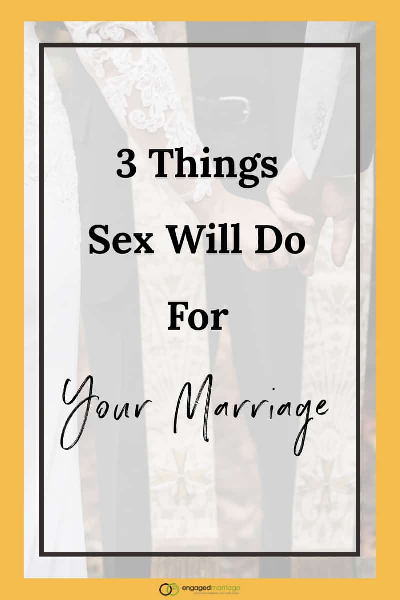 Depending on your circumstances, you may have envisioned sex in marriage to be amazing, frequent and, dare I say, magical. But those visions have failed to materialize. There are benefits to sex in marriage beyond the orgasm. So click through to learn the 3 things sex will do for your marriage right not!