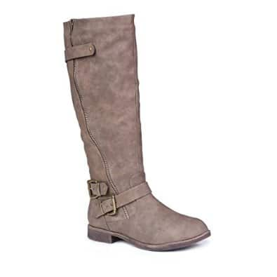 Buckled Knee-High Riding Boot